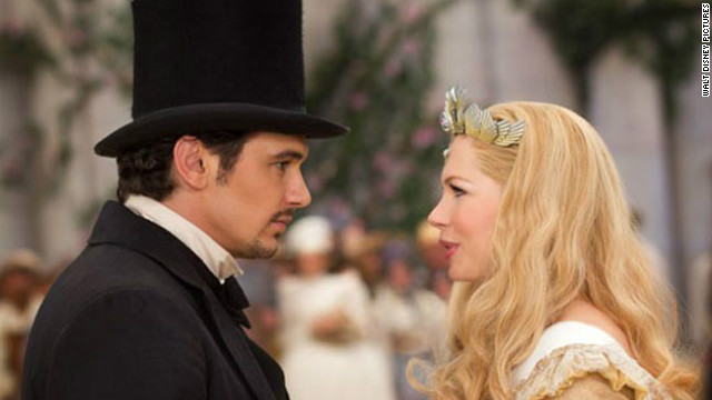 "James Franco and Michelle Williams star in ""Oz the Great and Powerful."""