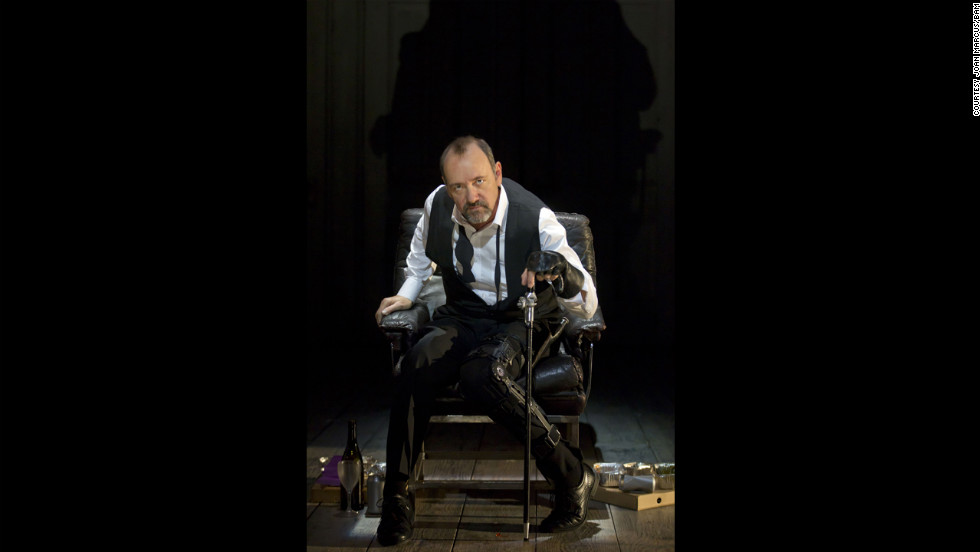 "In the wake of Richard III's remains being discovered, take a look at some of the thespians who have brought the historical character to life. In this photograph: Kevin Spacey in ""Richard III"" for the Brooklyn Academy of Music, 2012."