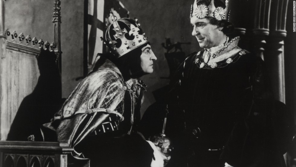 "Laurence Olivier as Richard III in the film ""Richard III,"" 1955."