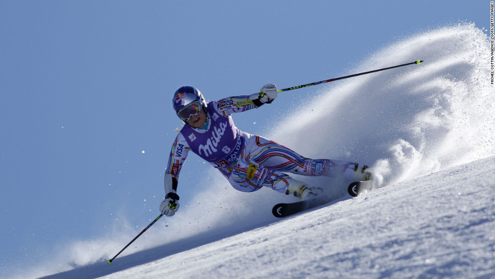 Vonn takes first place during the Audi FIS Alpine Ski World Cup for women's giant slalom on October 22, 2011, in Soelden, Austria.