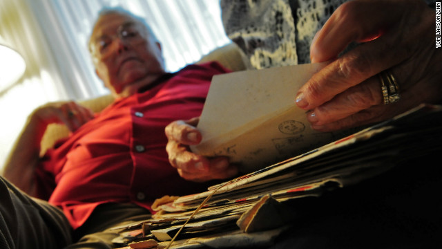 The letters had been stored in a trunk that was stolen from their shed more than 40 years ago.