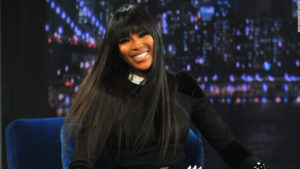 "Naomi Campbell has a laugh while appearing on ""Late Night with Jimmy Fallon"" on February 5."