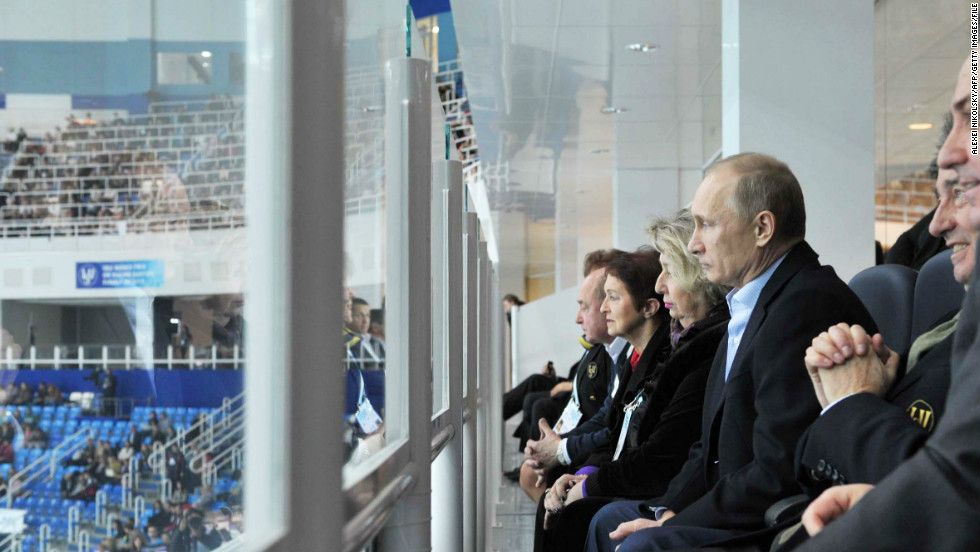 "Russia's sports-loving president Vladimir Putin was a guest at the figure skating. ""They're putting in a lot of effort to make sure it will come off correctly, and Vladimir Putin showing up is a good sign about how important it is and how much they care,"" White told CNN."