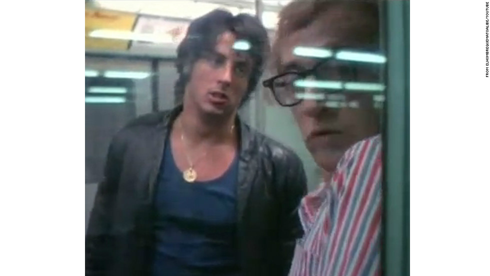 "Before ""Rocky,"" Sylvester Stallone worked as an extra, perhaps getting his most exposure as a street hoodlum harassing Woody Allen's character in 1971's <a href=""http://www.youtube.com/watch?v=blOUfHFaNvs"" target=""_blank"">""Bananas.""</a>"