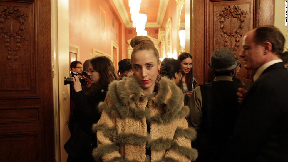 Because of the country's harsh winters, real fur remains popular in Russian fashion. A show on Wednesday was sponsored by DEPESHA, a Russian lifestyle magazine, and the Consulate General of the Russian Federation. Russia is one of many countries promoting its nation's textile and apparel industry at New York Fashion Week.