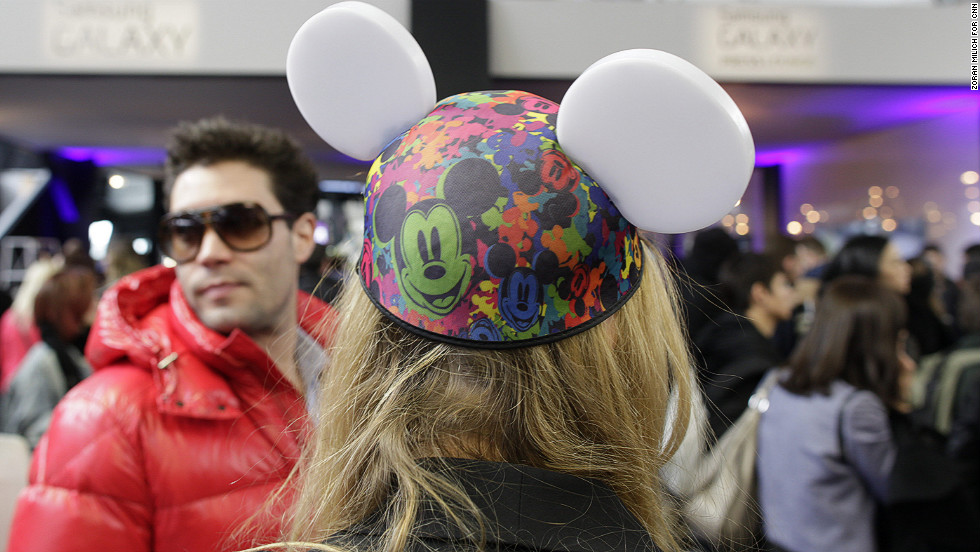 Barneys New York sells Mickey Mouse ears in collaboration with Disney at New York Fashion Week on Thursday, February 7.