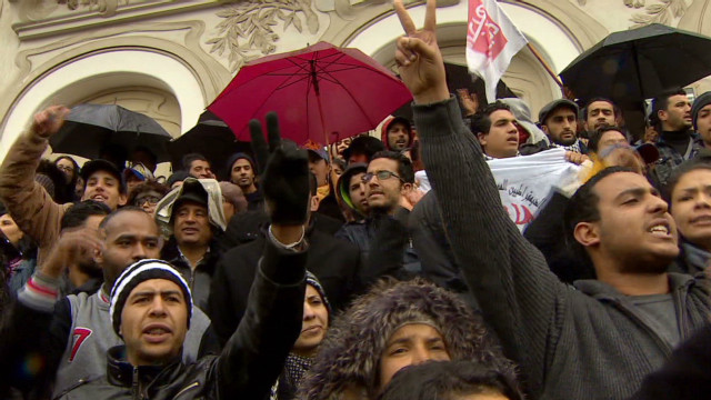 Grief, anger spill into Tunisian streets