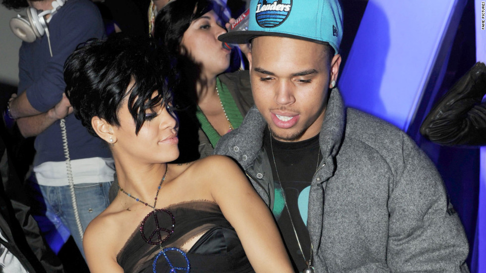 Rihanna and Brown danced together at a club in Paris in December 2008.