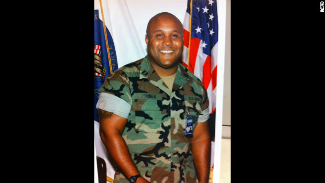 Christopher Dorner pictured in an image provided by the LAPD