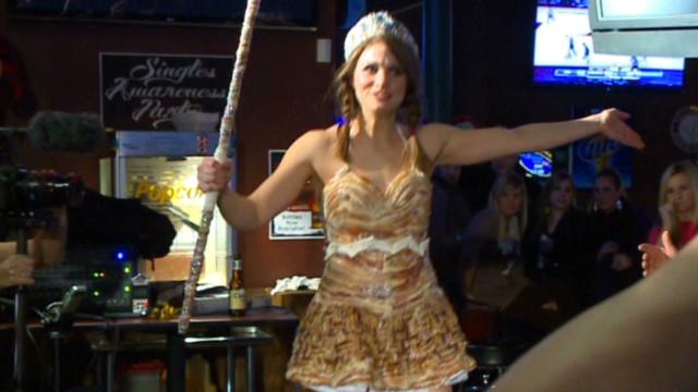 'Bacon Queen' awarded bacon dress