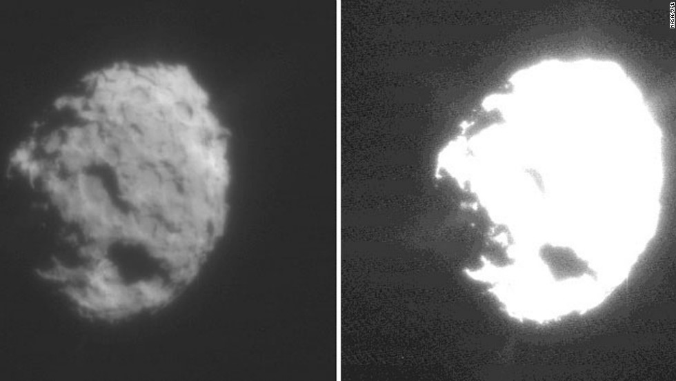 Comet Wild 2's nucleus was photographed by NASA's Stardust spacecraft as it flew past in January 2004 and collected samples from the comet's coma. The spacecraft's return capsule ferried the samples back to Earth on January 15, 2006.