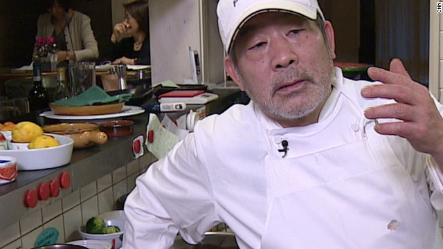 Chef Tanabe says the idea to use soil came naturally.