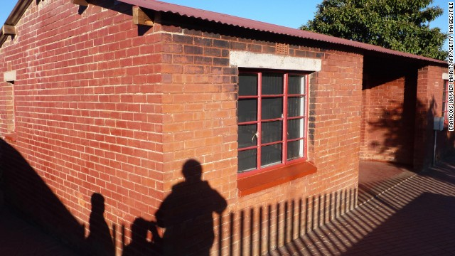 Nelson Mandela lived in this house in the Soweto area of Johannesburg before he was imprisoned.
