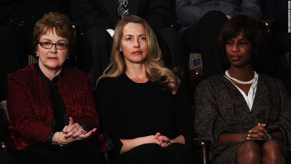 At left is Warren Buffett's secretary, Debbie Bosanek, who was one of Obama's guests at the 2012 State of the Union.