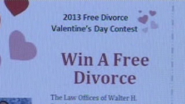 Free divorce for Valentine's Day