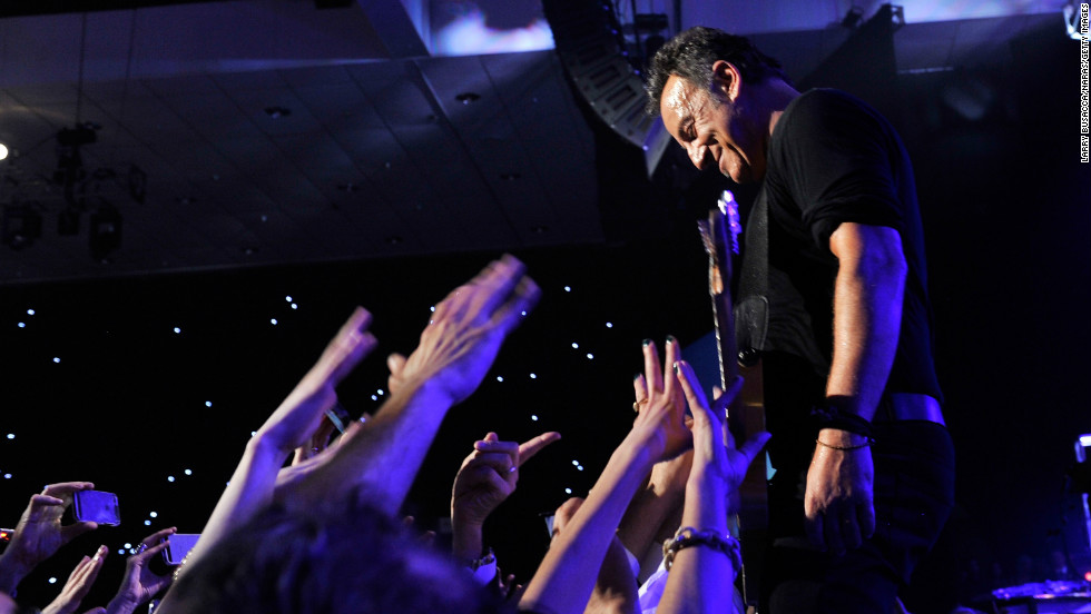 Honoree Bruce Springsteen performs onstage at MusiCares Person Of The Year Honoring Bruce Springsteen on Friday, February 8, 2013, in Los Angeles.