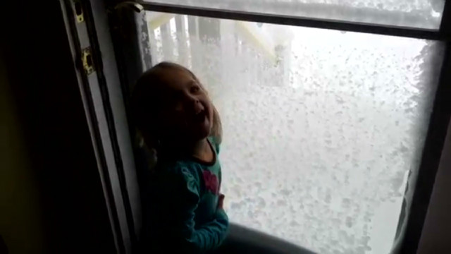 Kids get super excited about snow