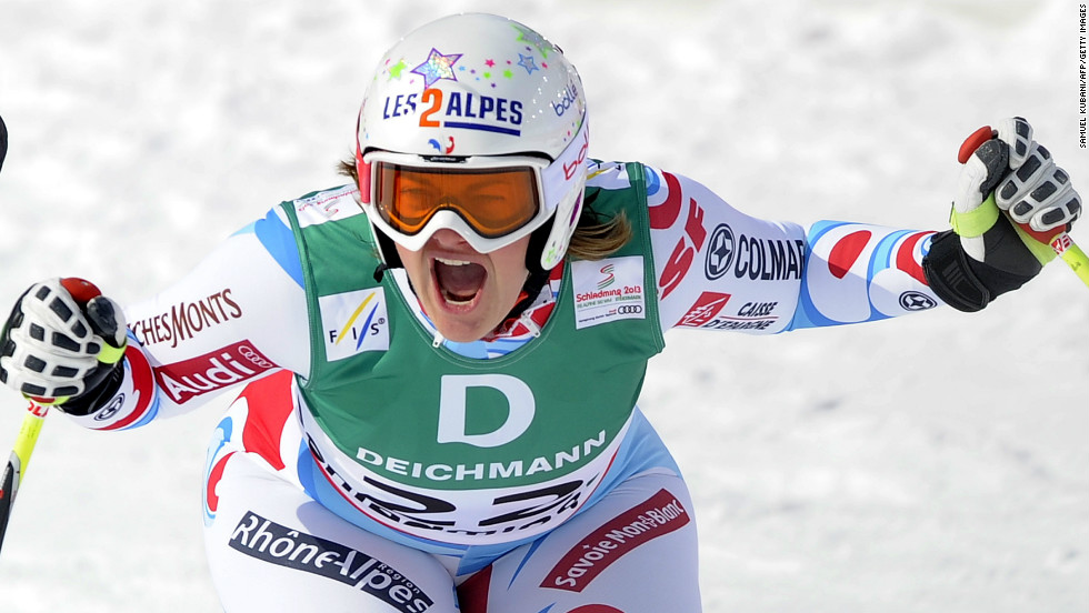 France's Marion Rolland won her first major race with a surprise victory in the women's downhill at the Alpine Ski World Championships in Schladming, Austria.