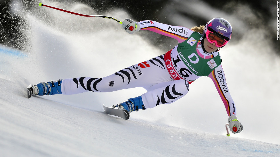 Germany's Maria Hofl-Riesch matched her 2011 bronze as she added to erlier gold in the super-combined discipline.