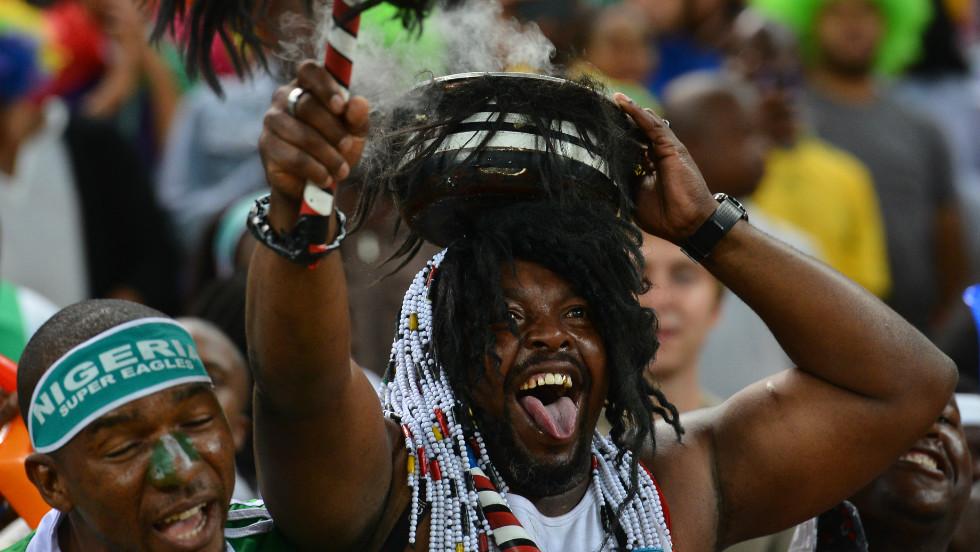 Nigeria's fans cheered their team's third continental crown, but first since 1994.