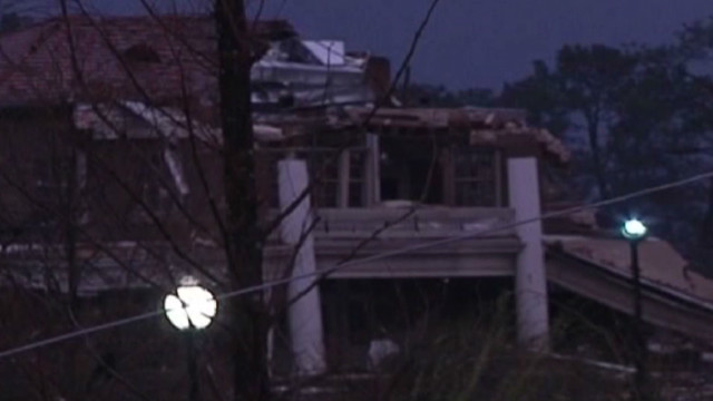 College campus feels brunt of twister