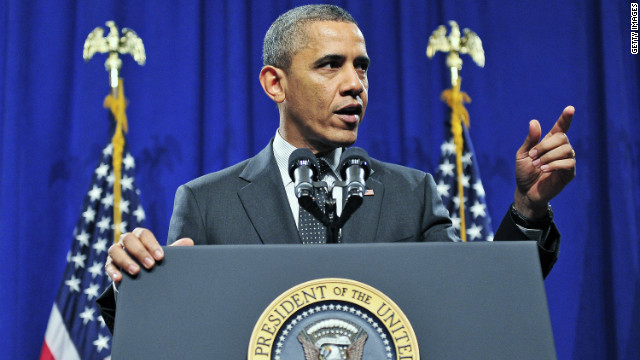 President Obama speaks to the House Democratic Issues Conference February 7 in Lansdowne, Virginia.
