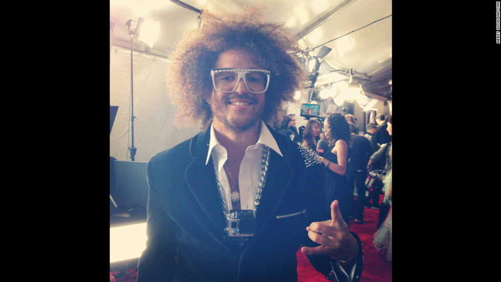 Considering some of the other get-ups we've seen on LMFAO, this is basically a black tie look for Redfoo.