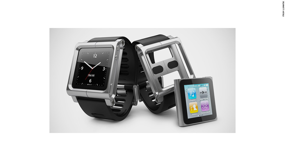 """Apple's sixth-generation iPod nano was a small, square touchscreen (it has since been replaced by the rectangular seventh-generation nano). Many fans immediately saw the potential to turn the iPod into a watch face, and companies such as <a href=""""http://www.lunatik.com"""" target=""""_blank"""">Lunatik</a> make kits that included mounts and slick straps."""