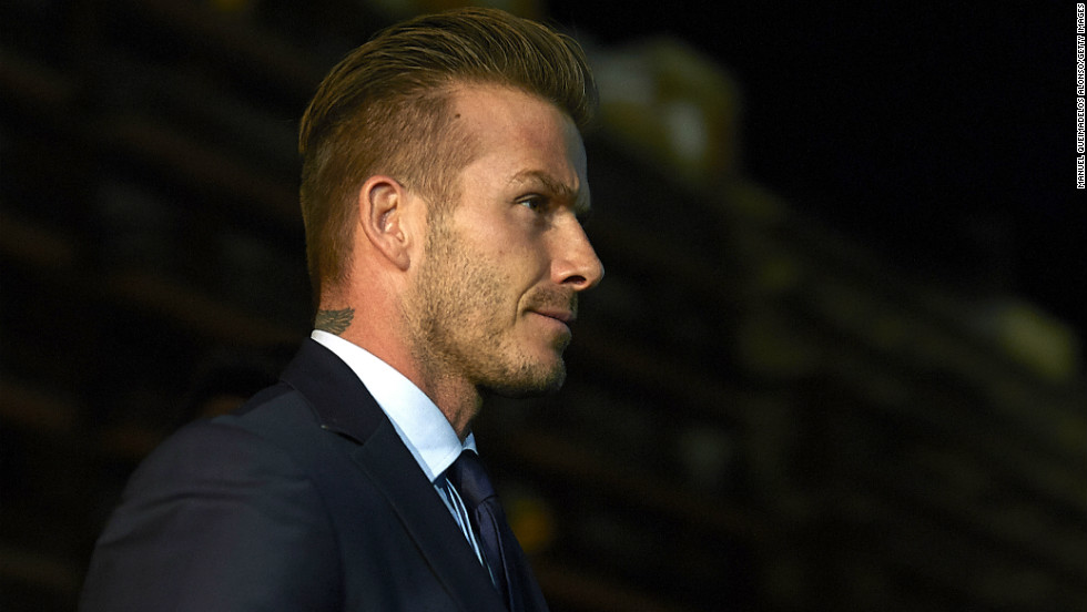 David Beckham was in attendance to watch his new club Paris Saint-Germain take on Valencia in the last-16 of the European Champions League. Beckham recently signed a five-month deal to play in the French capital and hopes to make his debut in the next couple of weeks.