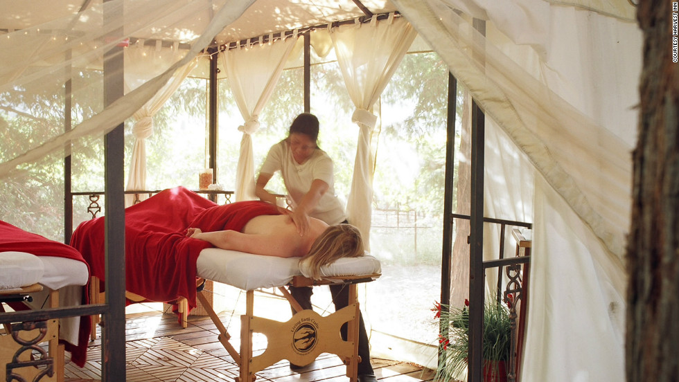 The Harvest Inn in the Napa Valley town of St. Helena offers a couples massage in your room or at a private spa suite or at the Redwood Grove Cabana.