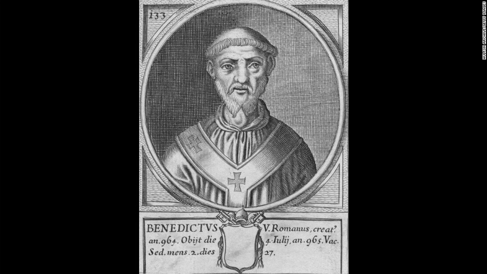 Pope Benedict V was the first to reign for 33 days in 964.