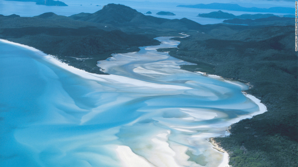 Whitehaven Beach on Australia's Whitsunday Island is among the most pristine beaches in the world.