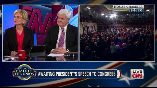 Gingrich and Granholm debate on CNN