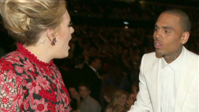Did Adele yell at Chris Brown?