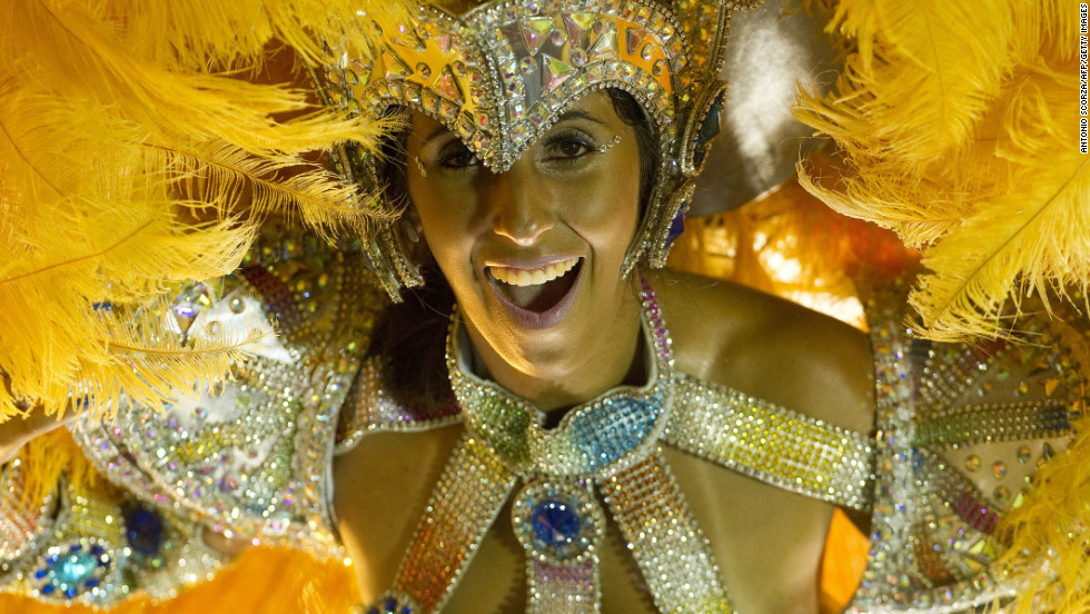 Welcome to Rio de Janeiro's samba parade. Taking place over four days of Carnival at the city's Sambadrome, the parade is actually a giant competition involving 70 samba schools. The winners take part in a champions' parade on February 16.