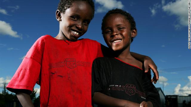Children at school in the Mukuru kwa Njenga slum in Nairobi, Kenya.