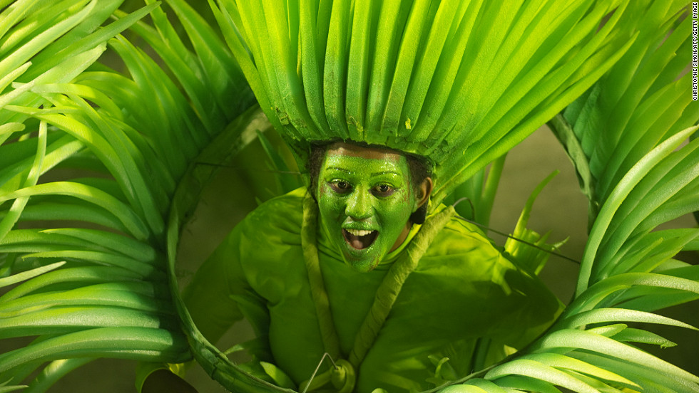 It's hard to envy the makeup removal ordeal that awaits this reveler from the Vila Isabel samba school.