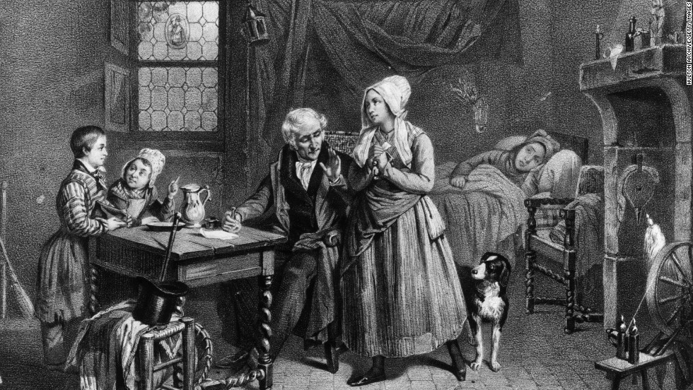 "In this illustration from about 1830, a doctor provides a vial of medicine for a sick woman. Medical treatments in the 19th and early 20th centuries looked a lot different than ones we see marketed today. From ""magic"" treatments to retro spectacles, check out some of these products sold in the United States 100 years ago or more. They are kept at the Smithsonian's National Museum of American History."