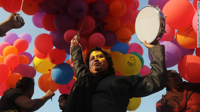 Global protests kicked off in India Thursday in the 1 Billion Rising campaign for women's rights.