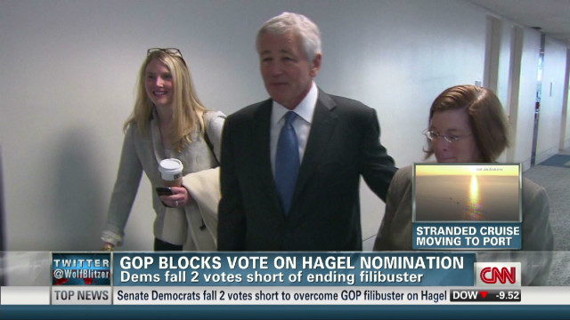 GOP prevents Hagel Senate vote