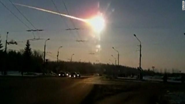 Watch meteor streak across sky