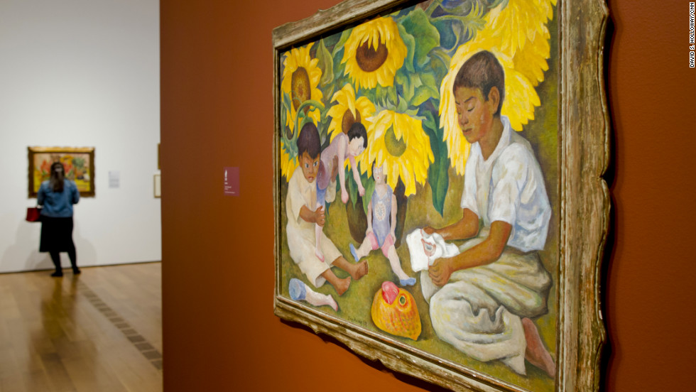 Rivera earned international acclaim from his work as a muralist for Mexico's Ministry of Education in the 1920s. He later used details of the murals in paintings and lithographs. Scenes of rural life evoking a sense of pride and homage to Mexico's indigenous culture became recurring themes throughout his career, reflecting his and Kahlo's deep sense of nationalism.