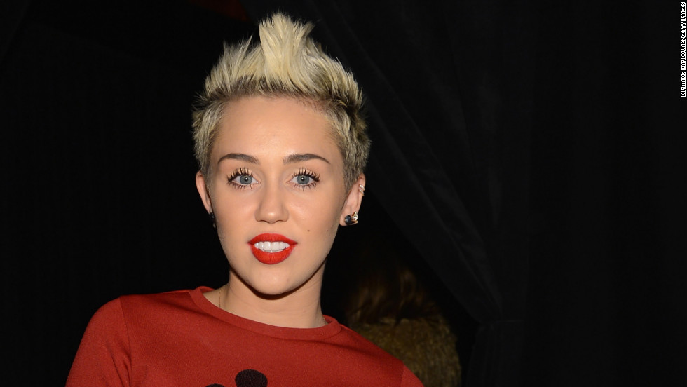 Miley Cyrus attends a fashion show in NYC.