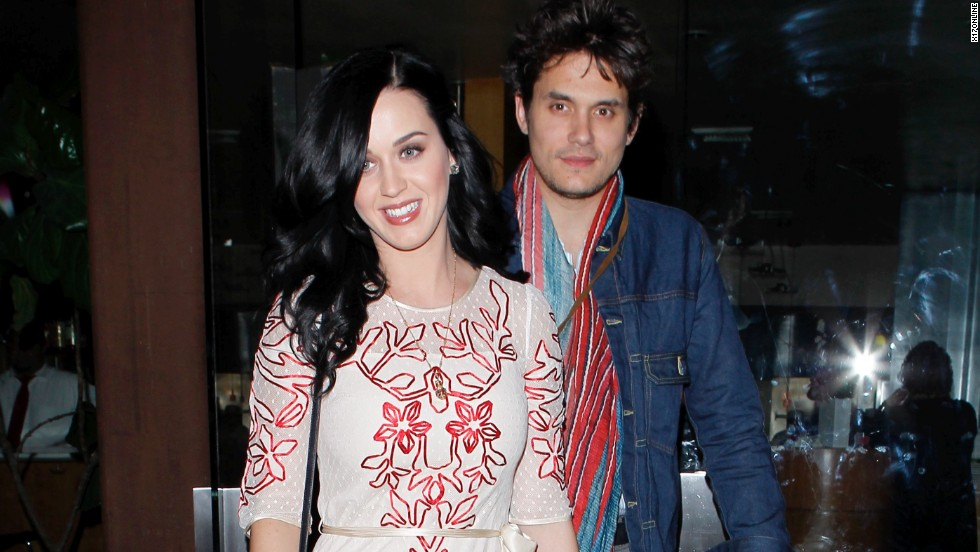 Katy Perry and John Mayer dine out on Valentine's Day.