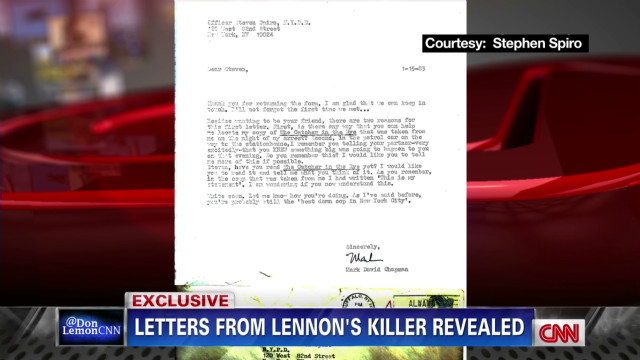 Letters from Lennon's killer revealed