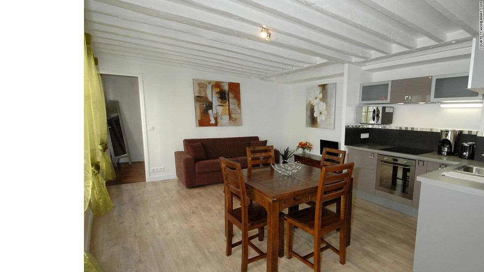 If $900 a night just isn't in the budget for your group, try a more economical rental. This apartment in Paris' 9th arrondissement rents for between $100 and $200 per night, depending on the season.<br />