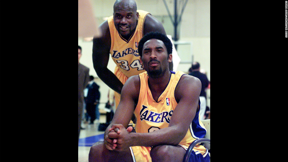 In their fourth season together, Shaquille O'Neal, a 7-foot-1 center acquired from the Orlando Magic, and Kobe Byrant, a young phenom straight out of high school in the 1996 draft, began to gel. They beat Indiana in six games as O'Neal racked up his first of three consecutive NBA Finals MVP honors.