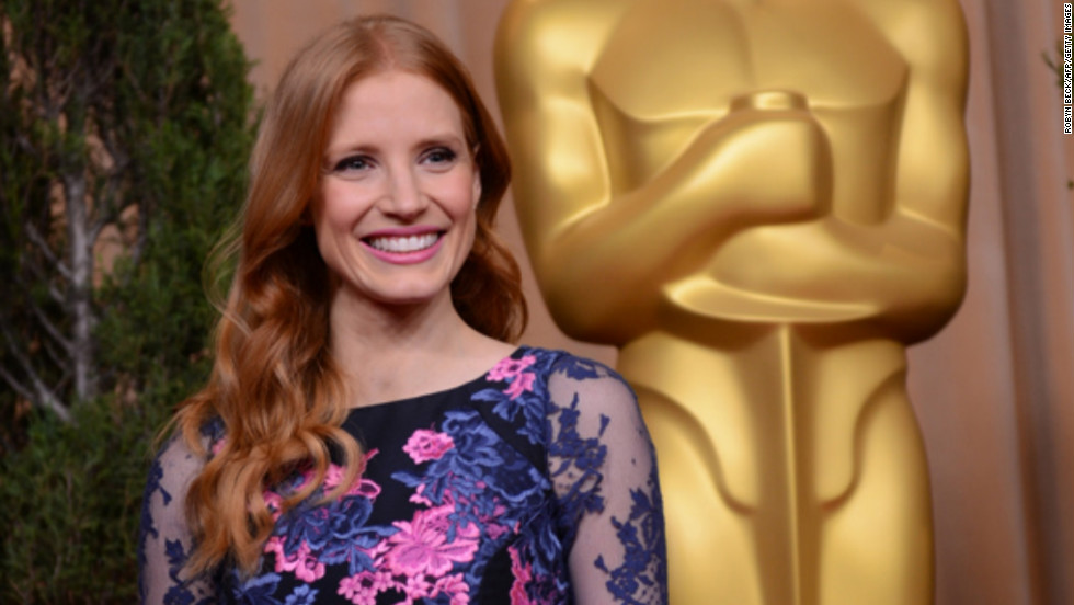 "Her role as Maya in ""Zero Dark Thirty"" (2012) earned Chastain a best actress nod. She has since appeared in the horror flick ""Mama,"" which hit theaters in January. Here she attends an academy luncheon for nominees in February."