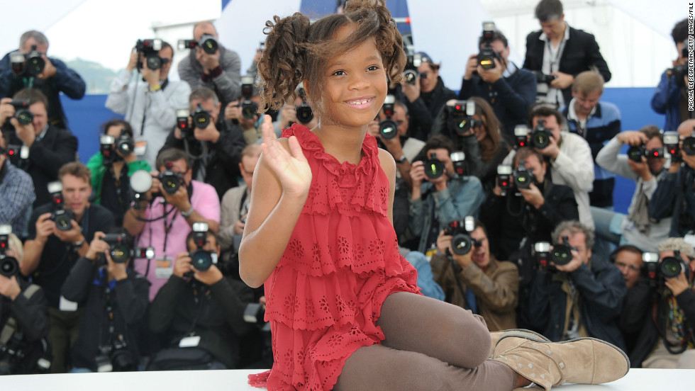 "Quvenzhane Wallis, here at the 2012 Cannes Film Festival, shot to stardom with her role as Hushpuppy in Benh Zeitlin's ""Beasts of the Southern Wild."""