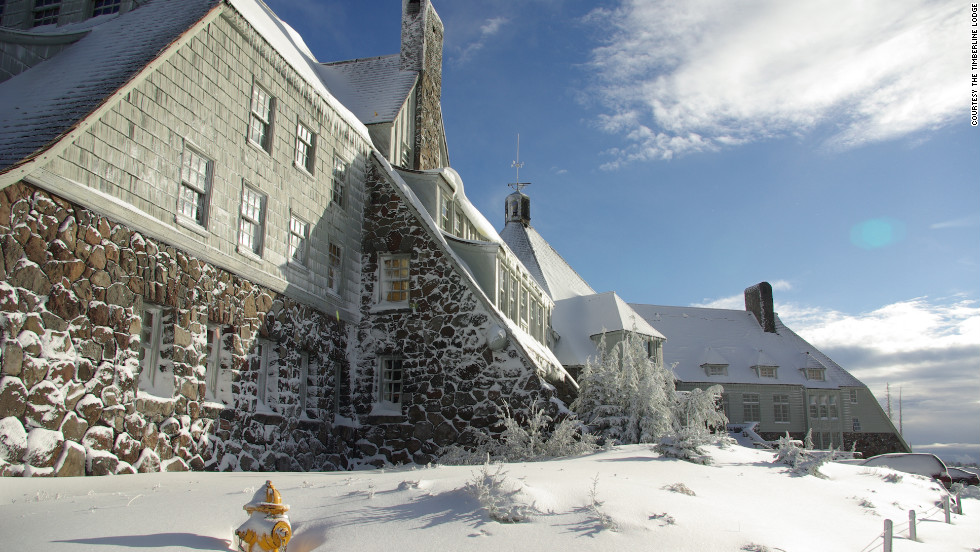 "Timberline Lodge acted as the exterior of the Overlook Hotel in the movie adaptation of ""The Shining."""